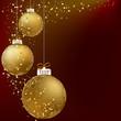 ������, ������: Christmas ball golden snowflakes + EPS10