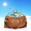 Travel bag monuments concept