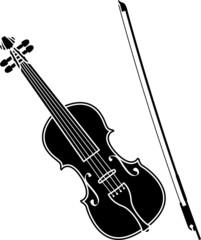 violin. stencil