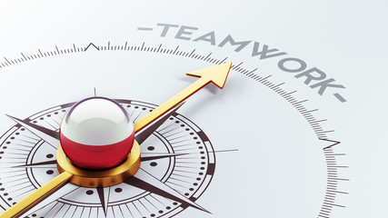 Poland Teamwork Concept