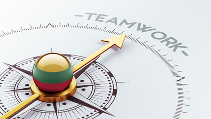 Lithuania Teamwork Concept