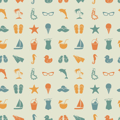 Beach seamless pattern.