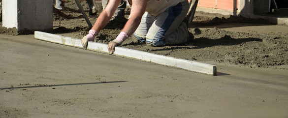 concreting the floor