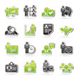 Human resource and employment icons  -vector icon set
