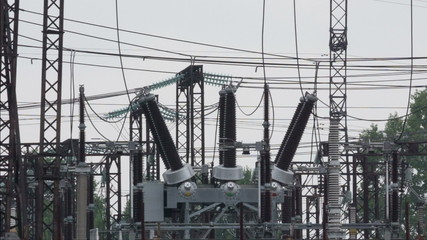 panorama of electric power substation