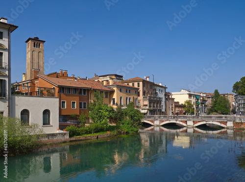Treviso, Brücke über die Sile / Venetien / Italien