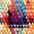 Abstract geometric background with stylish retro color tones.