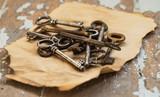 Old, ornate keys - 65707009