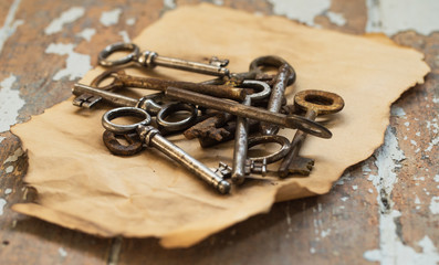 Old, ornate keys