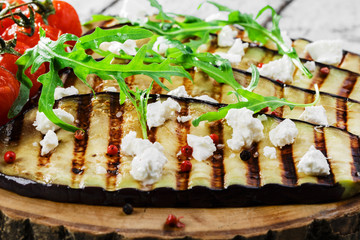 grilled eggplant with feta cheese