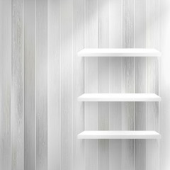 Layers Blank light wooden shelf. + EPS10