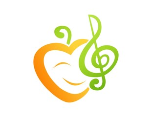 logo symbol icon music for love care kids