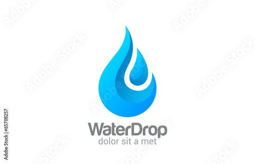 Projekt logo wektor Waterdrop. Clear Water dropplet