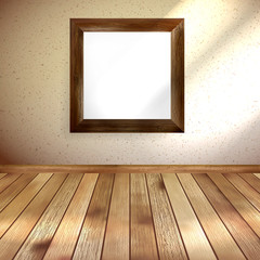Retro room with frame. EPS 10