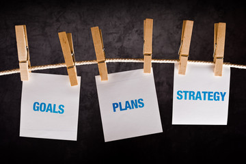 Goals, Plans and Strategy, business concept