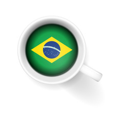 kaffeetasse von oben brasilien I