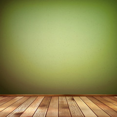 Empty interior with a green wall. EPS 10