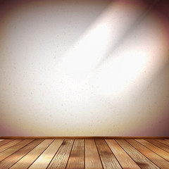 Light wall with a spot illumination. EPS 10