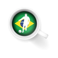 kaffeetasse von oben brasilien II