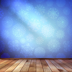 Christmas Decor blue bright. EPS 10
