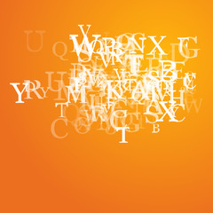 Abstract alphabet background sketch - vector illustration