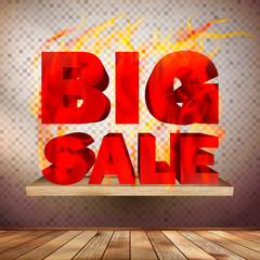 Big burn sale template interior.
