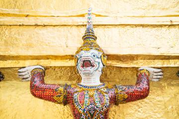 Giant Buddha in Grand Palace, Bangkok, Thailand