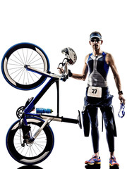 man triathlon iron man athlete equipment