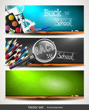 Fototapety Back to school banners