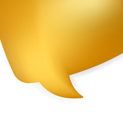 Golden shiny modern speech bubble. EPS 8