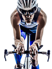 man triathlon iron man athlete cyclist bicycling