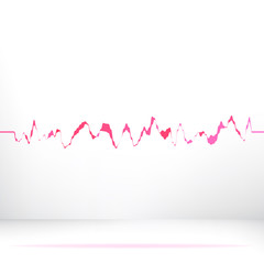 Red pink waveform background.  + EPS8