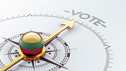 Lithuania Vote Concept