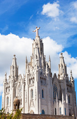 Church of  Sacred Heart of Jesus of Mount Tibidabo in Barcelona