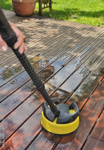 nettoyage terrasse bois - 65712027