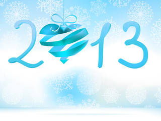 Happy New Year 2013 blue.  + EPS8