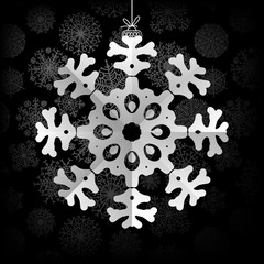Snowflakes background with space for text.  + EPS8