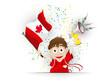 Canada Soccer Fan Flag Cartoon
