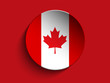 Flag Paper Circle Shadow Button Canada