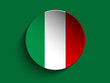 Flag Paper Circle Shadow Button Italy
