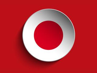 Flag Paper Circle Shadow Button Japan