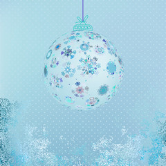 Winter with beautiful snowflakes.  + EPS8