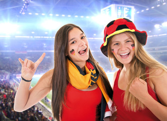 Fußballfans im Stadion