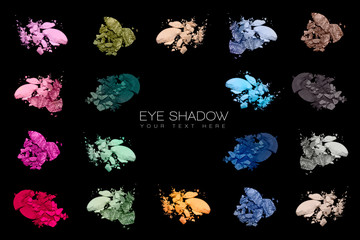 Color Swatches. Set of eye shadow