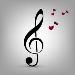 i love music concept