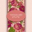 Elegance Vintage Floral Card with Roses