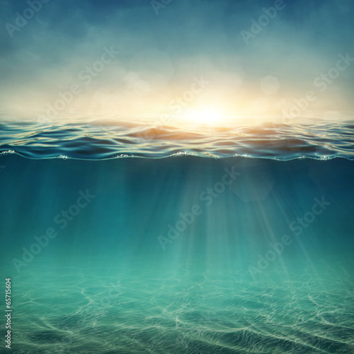 canvas print picture Abstract underwater background