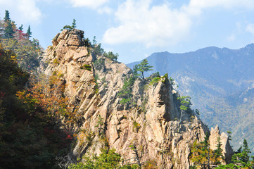 Mountain landscape of Seoraksan National Park, South Korea