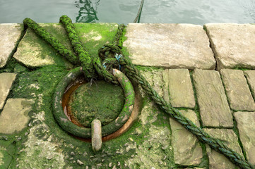 mooring ring on dock