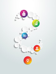 Infographic design on the background. Vector illustration